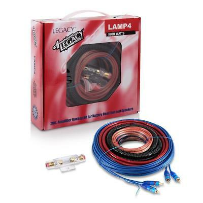 NEW Legacy - LAMP4 - 1600 Watt 4 Gauge Amplifier Installation Kit