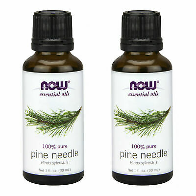 2 x NOW FOODS 100% Pure Natural Pine Needle Essential Oil 1 oz FRESH MADE IN USA