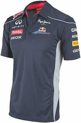 Authentic Infiniti Red Bull Racing F1 Team 2013 Men 3 Button Functional Polo