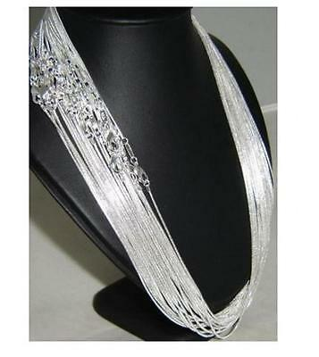 """In Bulk 10/20/50/100PCS 1MM Silver Snake chain necklaces Jewelry Necklace 16-24"""""""