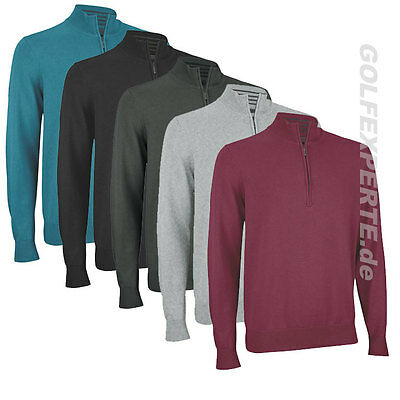 Ashworth Golf  Pima Half-Zip Sweater Herren Grösse M Medium Vers. Farben Neu