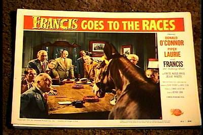 Francis Goes To The Races 1951 Lobby Card #8 Talking Mule Donald Oconnor