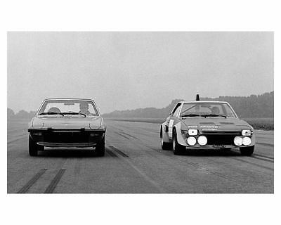 1974 Fiat X1/9 Abarth Bertone Factory Photo m1584-18SRGE