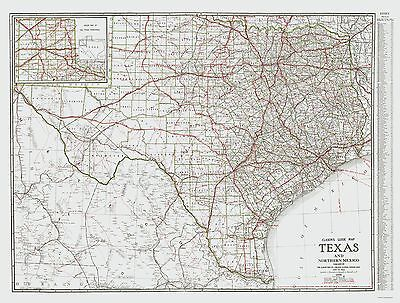 Old State Map - Texas and Northern Mexico - Clason 1931 - 23 x 30.29