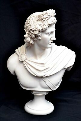 Stunning Marble Bust of Greek God Apollo