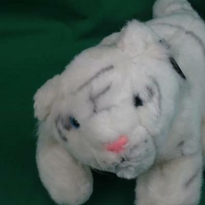 New Siegfried And Roy Plush White Tiger Cub Mirage Hotel Casino Vintage Toy Tag