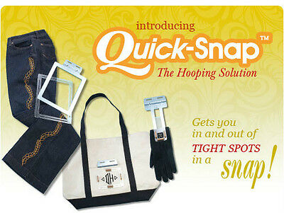 Magna Hoop QUICK-SNAP- Janome MB4/ Melco EP4 Embroidery