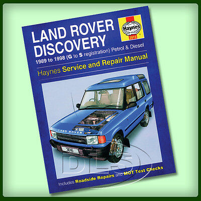 LAND ROVER DISCOVERY 1 - Haynes Workshop Manual 1989 to 1998 (DA3036)