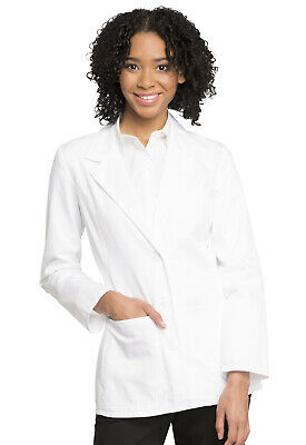 "White Cherokee Scrubs Womens 28"" Lab Coat 2317 WHTC"