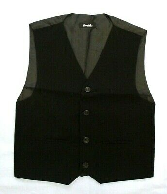 Baby Kids Boys Wedding Occasional Black Formal Smart Waistcoat 0-3 Months 14 Yrs