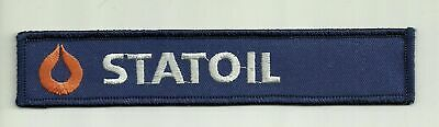 """1 1/8"""" x 6 1/4"""" Statoil Company Logo Gas Oil Company Name Tag Embroidered Patch"""