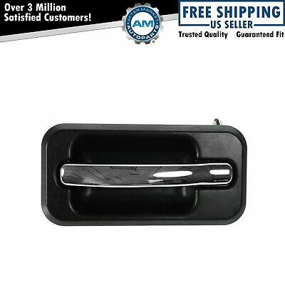 Exterior Outside Door Handle Chrome Black Rear LR Driver Side for 03-09 H2
