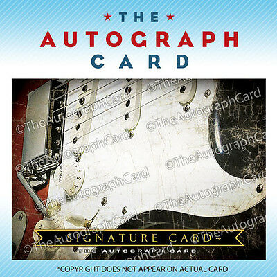 The Autograph Card Blank Signature Card: Rock & Roll MUSIC signed sign and auto