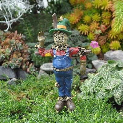 "Miniature Garden ""scarecrow C/w Pick"", Fall, Autumn, Fairy, Terrarium, New"