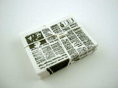 Dolls House Miniature 1:12 Scale Newsagents Shop Accessory Stack of Newspapers