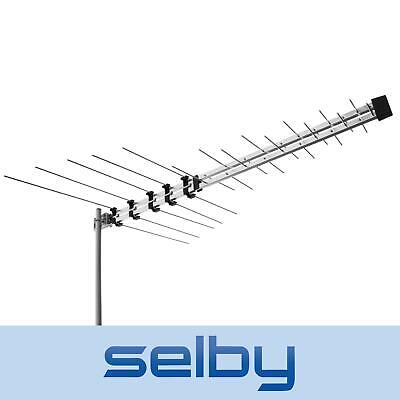 Selby 32 Element Log Periodic TV Antenna VHF UHF FM HDTV Digital Ready Aerial