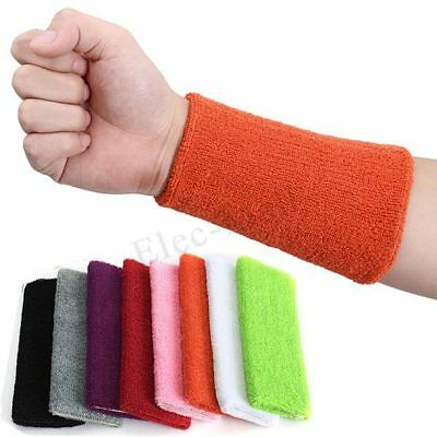 1X Unisex Cotton Fitness Sweatband Wristband Sweat Wrist Band Sports Yoga 6""