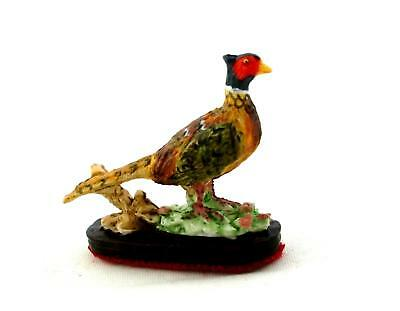Dolls House 1:12 Falcon Miniature Accessory Pheasant Ornament on Wooden Base