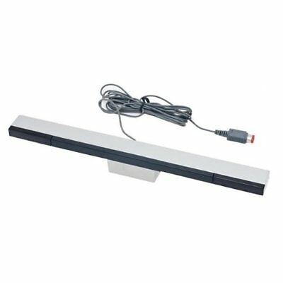 ZedLabz wired infrared LED sensor bar for Nintendo Wii & Wii U inc stand silver