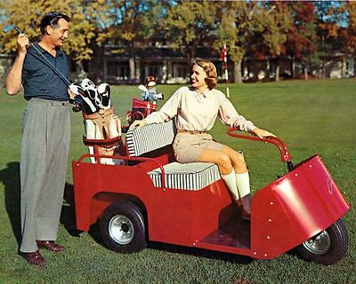 1956 Cushman Electric & Gas Golf Cart Photo Poster zm1625-C3NIUP