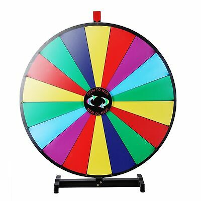 "Upgraded Editable 30"" Color Prize Wheel of Fortune Trade Show Tabletop Spin Game"