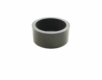 "Carbon Headset Spacer 15mm x 1-1/8"" x 35mm 3k Weave Gloss Prestine"