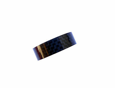 "Carbon Headset Spacer 10mm x 1-1/8"" x 34mm 3k Weave Gloss Bevato"