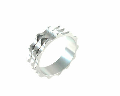"Headset Spacer 1-1/8"" x 10mm Anodised Silver Serrated Dorcus"