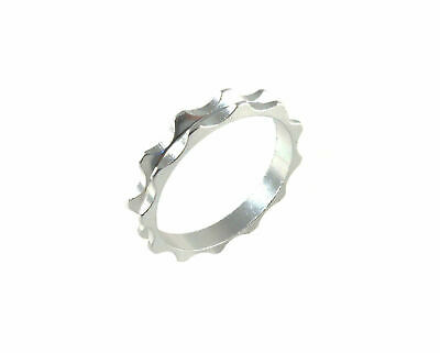 "Headset Spacer 1-1/8"" x 5mm Anodised Silver Serrated Dorcus"
