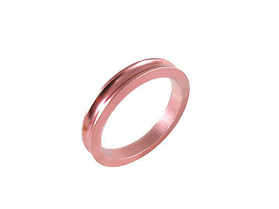 """Headset Spacer 1-1/8"""" x 5mm Anodised Pink Concave Dorcus"""