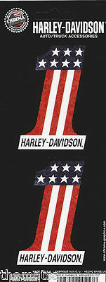 Harley Davidson Motorcycles #1 American Flag Sticker Decal