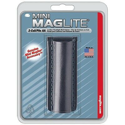 Maglite Mini AM2A026 2 Cell AA Leather Mag Flashlight Belt Holster