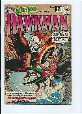 Brave And The Bold 43 - Vg- 3.5 - Early Hawkman - Origin (1962)