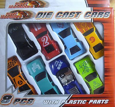 Street Machines Die Cast Toy Car Set (8 Cars) Great 4 Party Bag Fillers