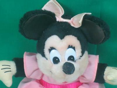 Vintage Applause Pink Skirt Disney Baby Minnie Mouse Plush Stuffed Animal Doll
