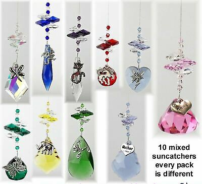 10x crystal suncatcher charms, bulk wholesale reseller gifts market stall suppy