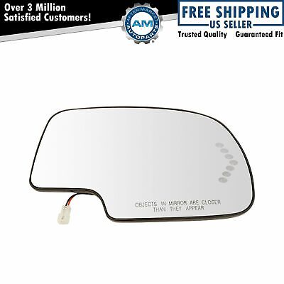 Mirror Glass Heated w/ Turn Signal Passenger Side RH for Chevy GMC Cadillac