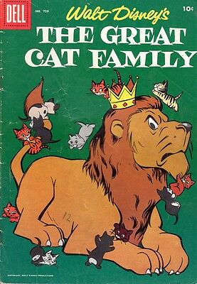 Disney-Dell Four Color #750-The Great Cat Family-1956