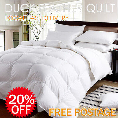 100% Duck Feather Cotton Cover Quilt/Duvet/Doona/Blanket or Pillow-Aus Size