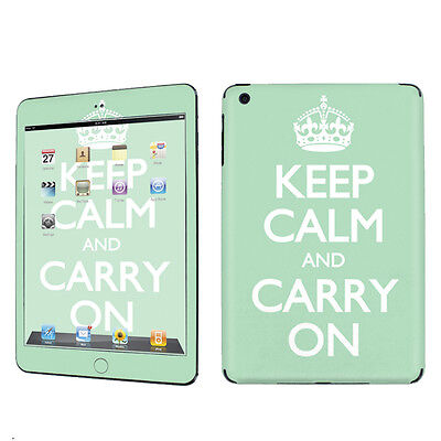 USA Apple iPad Mini Decal Vinyl Cover Skin Sticker- Mint Keep Calm And Carry On