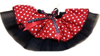 Baby Toddler Tutu Skirt Red White Polka Minnie Mouse 80S Fancy Fancy Dress Party