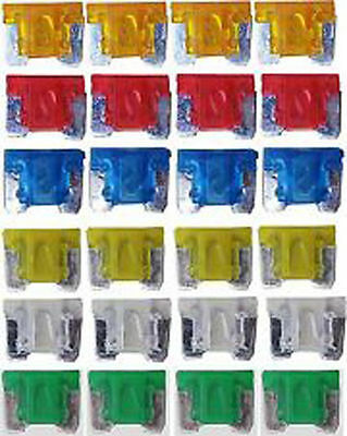 24 X Assorted Micro Mini  Blade Fuse Fuses Car Auto Truck Suv  Low Profile Aps
