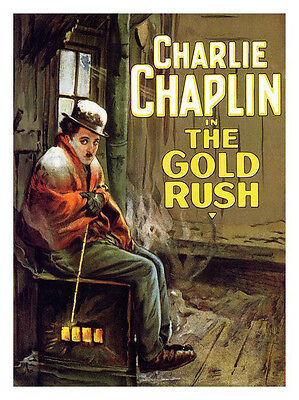 Charlie Chaplin The Gold Rush Movie Print - Framed & Memo Board Available