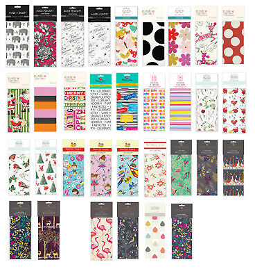 Printed Patterned Tissue Wrapping Paper designer 4 sheets many designs u choose