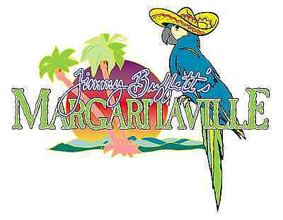 "Margaritaville Jimmy Buffetts Sombrero Vinyl Sticker Decal 18"" (full color)"