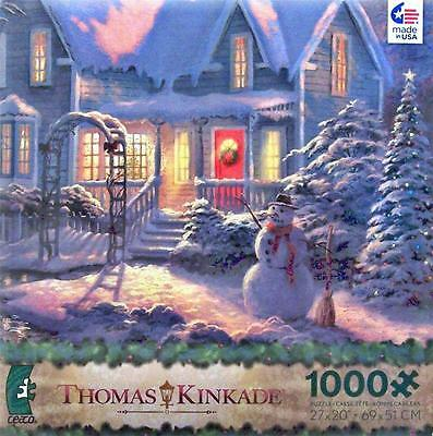 CEACO THOMAS KINKADE 2013 CHRISTMAS JIGSAW PUZZLE HOLIDAY BLESSINGS 3328-20