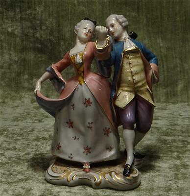 BEAUTIFUL CAPODIMONTE DANCING COURTING COUPLE