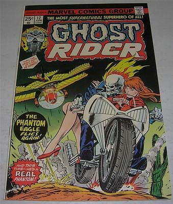 GHOST RIDER #12 (Marvel Comics 1975) PHANTOM EAGLE appearance! Gil Kane cvr (VF)