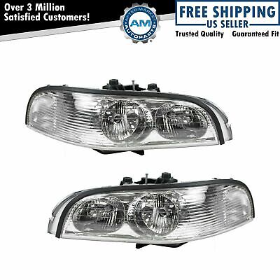 Headlights Headlamps Left & Right Pair Set for 97-05 Buick Park Avenue