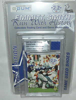Emmitt Smith Run with History Game Used Shoe Card - MINT NIP